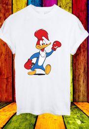 Woody Woodpecker Boxing Funny Cartoon Animación Hombres Mujeres Unisex camiseta 708 Divertido envío gratis Unisex Casual camiseta de regalo desde fabricantes