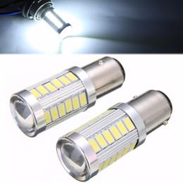 lâmpadas de luzes led vermelhas Desconto Venda quente 2 pcs BAY15D P21 5 W 1157 33 SMD LEVOU Farol Do Carro de Backup de Luz de Nevoeiro Reversa Substituição Da Lâmpada de Luz 6500 K Branco