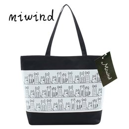 Wholesale wholesale bao - Women Bag summer 2018 luxury designer cotton canvas tote cat bag travel shopping Women Handbags bolsos mujer bao bao #GHSW
