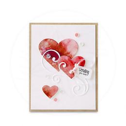 Wholesale heart die cut - Julyarts New Arrival Creative 15Pcs lot Stencil Scrapbooking Card Album Template Punch Craft Heart Metal Cutting Dies Embossing
