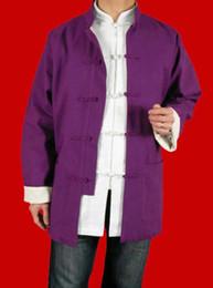 Argentina Lino fino Kung Fu artes marciales Tai Chi Jacket Coat XS-XL o sastre por encargo Suministro