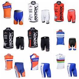 0b2756e51 Rabobank Rock Racing Equipo Ciclismo Sin Mangas Jersey Chaleco Shorts  Conjuntos Nuevos Hombres Breathable Bike Clothing Ropa Deportiva De Secado  Rápido ...