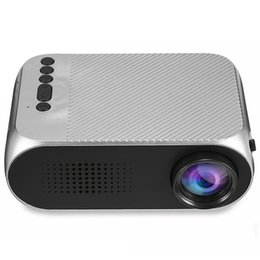 2019 mini levou 3d projector de bolso YG320 Mini Projector Led Projector Projetor Portatil 500LM áudio HDMI USB Mini YG320 Projetor Home Theater Media Player Beamer