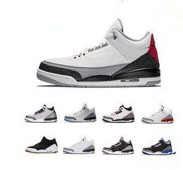 деревянная обувь Скидка nike air jordan aj3 3 3s США Джорджтаун Хойас PE Чистый белый человек из дерева Катрина Мужская обувь для баскетбола Мужские спортивные кроссовки