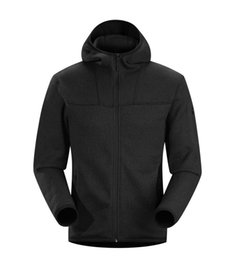 Wholesale polar brown - Outdoor hiking lightweight knitted forro polar hombre outwear Canada windproof thermal tech fleece jacket men luxury covert hoody 15376