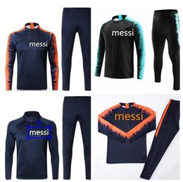 Wholesale black track suits - Messi Suarez training suit cutino color 2018 track suit, tights, trainers, sportswear, Messi track suit, 18 19 Barcelonas sweater