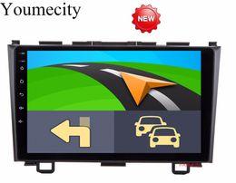 cargador de coche mercedes Rebajas Android 8.1 9 pulgadas Octa Core Car DVD DVD para Honda CRV 2006-2011 Pantalla capacitiva 1024 * 600 + wifi + 2G RAM + 4G