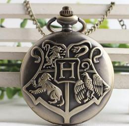 2019 zeige harry potter Wholesale-Steampunk Harry Hogwarts Schule für Hexerei und Zauberei Potter Golden Snitch Quarz Fob Taschenuhr Pullover Halskette Kette günstig zeige harry potter