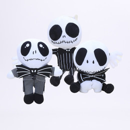 Wholesale Children Birthday Party Gifts - 15-35cm Nightmare Before Christmas Jack Plush Toy Cute Skull Jake Stuffed Soft Dolls Toys for Children Kids Gift party prop