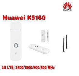 Wholesale Fast Ethernet Usb - Unlocked Huawei Vodafone K5160 with Antenna 4G LTE Modem Stick Datacard 4G USB Dongle Plus 2pcs CRC9 antenna
