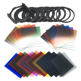 24pcs Square Full + Graduated Filter Set + 9 Size Adapter Ring Filter Holder for cokin p series LF78