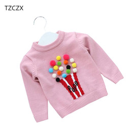 Wholesale Baby Girl Sweater Months - TZCZX-5915 New Autumn Baby Children Girls Knitwear Popcorn Sweaters For 6 Month to 3 Years Old Kids Wear Pullover Clothes