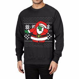 Hombre de puentes de navidad online-Moda de Navidad Impreso Sudaderas Con Capucha Plus Size Hombre Otoño de Manga Larga Tops Jumper Pullovers Macho Chándal Moletom Swag