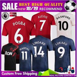 6e06a85240b 2018 2019 man LUKAKU POGBA ALEXIS Manchester United soccer jersey 18 19 Home  Away 3RD MARTIAL LINGARD RASHFORD training UTD football shirt