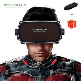 Shinecon Casque шлем 3D VR очки виртуальной реальности для смартфона очки Google картон смартфон 3 D видеоигр объектив от Поставщики смотреть очки оптом