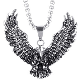 Wholesale Gothic Dragon Jewelry - Luxury Jewelry Dragon Gothic Vintage Eagle Necklace Pendant