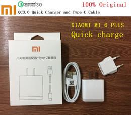 Оригинал XIAOMI MI 6 плюс быстрое зарядное устройство адаптер, 12V / 1.5 A QC 3.0 Qualcomm быстрая зарядка USB зарядное устройство + Тип C кабель для передачи данных от