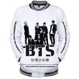 04d6a501640a KPOP BTS Love Yourself 3D Hoodie Women Harajuku Sweatshirt Winter Korean  Fashion Hip Hop Baseball Uniform Jacket Coat Female 4XL