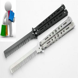 Wholesale Edge Training Knives - Practice Tools American butterfly knife training knife comb sharpener (not edged) to play cool practicing knife