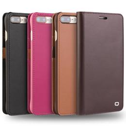 Wholesale Novo estojo de couro para iphone titular do cartão virar capa para iphone plus handmade luxo ultra fino phone case coldre