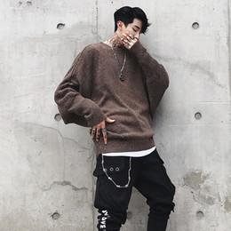 4f4bf88e73ca Flut Herbst und Winter Kleidung lose Schulter Fledermaus Ärmel Männer Japan  Trend Hip Hop gefärbten Pullover Freies Verschiffen günstige pullover japan