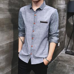 9c17c55e60a men s office shirts 2019 - Solid Cotton Shirts Men Long Sleeve Casual  Classic Slim Fit