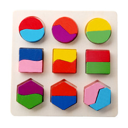 Panel de juguete online-3D Forma geométrica Cognición Clasificación Paneles de la Junta a juego Rompecabezas Madera Niñez Juguete educativo temprano