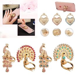 Wholesale Diamond Cellphone - Bling Diamond Ring Holder Fshion Unique Mix Style Cell Phone Holder Fashion For iPhone X 8 7 6s Samsung S8 cellphone stand iPad