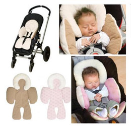 Wholesale Baby Head Cushion - Baby Strollers Kids Cushion Head Body Support Pad Mat Gifts Safety Rattle Baby Car Seat Stroller Protection Accessory Safety Free Shipping