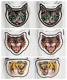 Nuevos zapatos de diseñador Parche ACE bordado - Butterfly Cat Tiger Patch en la parte posterior Removable Shoe Decorations Hot en oferta desde fabricantes