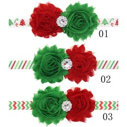 Boutique de lazo de satén online-Fiesta de Navidad para bebés SunFlower Satin HeadBands 2 unids Flores Hechas A Mano Con Rhinestone Tie Bow Girls Boutique Accesorios CB10