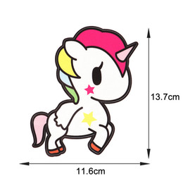 Wholesale wholesale horse stickers - 1 Pcs Unicorn Stickers Fashion Multi-Color Unicorn Car Stickers Waterproof Cartoon Horse Car Decals Car Styling