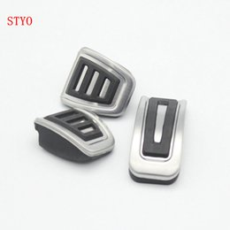 Wholesale Pedals Brake Gas - STYO Car Stainless Steel Gas Brake Pedal MT AT Pedal cover For VW T-ROC 2018