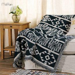 Canada Couverture à la maison d'utilisation Inde modèle motif géométrique jeter des couvertures pour lits Crochet Sleeping Chair canapé couverture épaisse couverture pour la maison cheap india home Offre