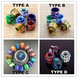 Wholesale rda drip tips - 810 Epoxy Resin drip tip Wide Bore tfv8 drip tips Mouthpiece for Tfv8 Big Baby Tfv12 Prince Tank 528 RDA with Retail Package