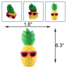 2019 kostenlose brille für kinder Ananas Squishy Sonnenbrille Dekompression Jumbo Scented Simulation Squishies Dekoration Kinder Spielzeug Gläser Squeeze Geschenk Kostenloser Versand gut rabatt kostenlose brille für kinder
