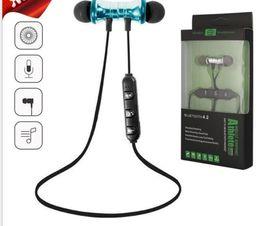 mini auriculares bluetooth para mp3 Rebajas Los más nuevos auriculares bluetooth magnéticos inalámbricos que funcionan con auriculares deportivos auriculares BT 4.2 con micrófono MP3 Auriculares para teléfonos inteligentes con iPhone