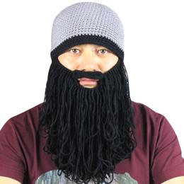Canada Hommes Coton Hiver Chaud Étiré Tricoté Sports de Plein Air Cylcing Ski Snowboard Beard Moustache Bonnets Bonnet Chapeau Masque cheap beard mustache hat Offre