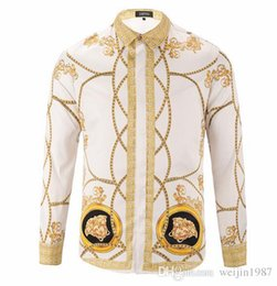 18 Herbst Harajuku Luxusmarke Medusa Hemden Mode hawaiian Retro Blumendruck Seide  Hemd Chemise Herren Langarm Designerhemden seide bedruckte hemden Angebote 57c8e22a58