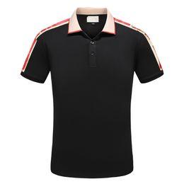 Canada Designer T-shirts D'été Nouvelle Mode Hommes Vêtements De Luxe Chemise Lettre Imprimer Revers Mélange de Coton Casual Style Hauts Taille M-3XL Offre
