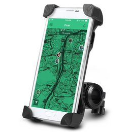 Wholesale bicycle bike gps - Universal Adjustable Bicycle MTB Motorcycle Holder Bracket Bike Motor Mount for Iphones Samsung Xiaomi Huawei Mobile Phones GPS 3.5-7''