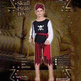 29324505971c0 costumes de halloween garçons pirate Promotion Cosplay Pirate Squelette  Garçon Halloween Costume Déguisements Enfants Vêtements Costumes