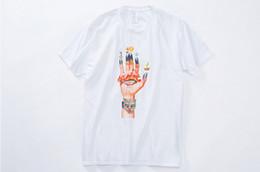 ropa de roca masculina Rebajas Ropa de verano para hombre Camisetas Hombre Dedo Mano Impreso Camisetas frescas Hiphop Rock Tops