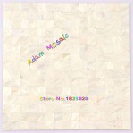 Wholesale Pearl Shell Tiles - Mother Of Pearl Tile White Backsplash Kitchen Shell Mosaic Tile Bathroom Wall Deco Sheet