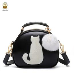 lindos pequeños bolsos de hombro Rebajas 2018 Cute Cartoon Small Cat Top-Handle Handbag Bolsas para Mujeres Niñas Bolsas de Hombro Messenger Crossbody Bolsas