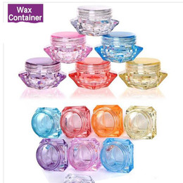 Wholesale plastic jars 5ml - 3 Styles Plastic Wax Containers Jar Box Cases 5ml Capacity Wax Holder container food grade dab tools storage Dabbers For Silicone Pipes
