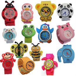 Relojes digitales para niños online-Cute Kids Watches For Girl Boy Cartoon brid slap kids baby girl boy reloj de pulsera jalea de silicona reloj deportivo para niños