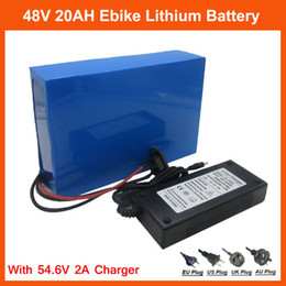 Caso elettrico della batteria della bici online-Batteria 48V 1000W Batteria 48V Electric Bike Batteria 48V 20AH agli ioni di litio con custodia in PVC 30A BMS 54,6V 2A caricabatterie