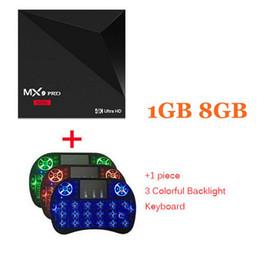 Wholesale mini 1g - MX9 PRO Mini Smart Android 7.1 TV Box RK3328 4K ultra HDTV box 1G DDR3 8G eMMC WIFI PK TX3 X96