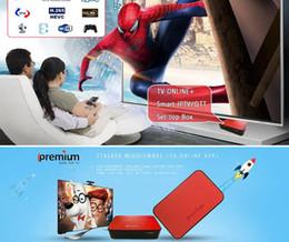 Wholesale Android Usb Tuner - Iptv Set Top Box Original Ipremium Tv Online+ Smart Android Tv Box 1080P FULL HD 3D Stalker WIFI OTA Mickyhop IPTV free shipping